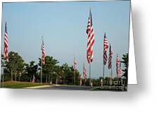 Many American Flags Greeting Card