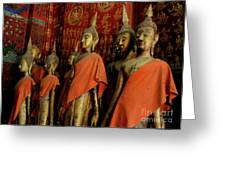 Many Buddhas Greeting Card
