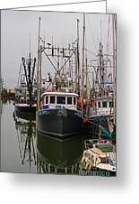 Many Fish Boats Greeting Card