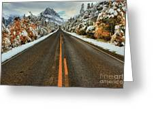 Many Glacier Road Greeting Card