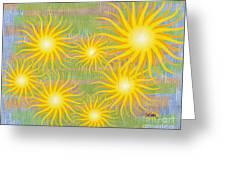 Many Suns Greeting Card