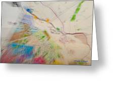 Map Abstract 2 Greeting Card