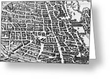 Map Of Paris Greeting Card by German School