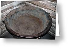 Maple Sap Boiling Pot Greeting Card