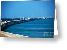Marathon And The 7mile Bridge In The Florida Keys Greeting Card