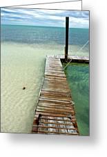 Marathon Dock Florida Keys Greeting Card