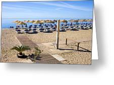 Marbella Holiday Beach Greeting Card