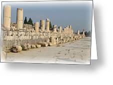Marble Street In Ephesus Greeting Card