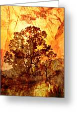 Marbled Tree Greeting Card