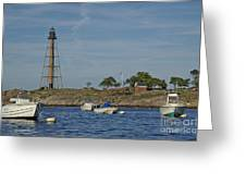 Marblehead Lighthouse From The Water Greeting Card
