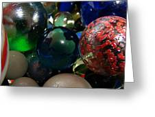 Marbles Around The World Greeting Card