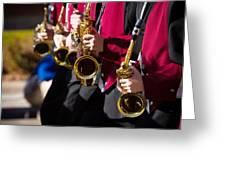 Marching Band Saxophones  Greeting Card