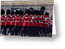 Marching In Red And Black Greeting Card