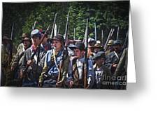 Marching In To Town Greeting Card