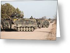 Marder Infantry Fighting Vehicles Greeting Card
