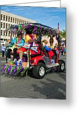 Mardi Gras Clowning Greeting Card