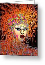 Mardi Gras Greeting Card by Natalie Holland