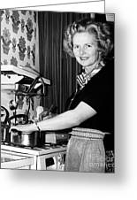 Margaret Thatcher (1925- ) Greeting Card