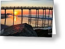 Margate Sunrise Greeting Card by John Loreaux