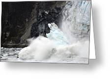 Margerie Glacier Calve Greeting Card
