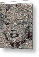 Marilyn Monroe Bubble Glass Mosaic Greeting Card