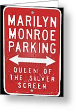 Marilyn Monroe Parking Greeting Card