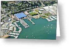 Marina And Coastal Community Greeting Card