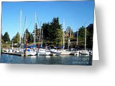 Marina At Cascade Locks Greeting Card
