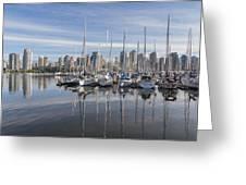 Marina At False Creek Greeting Card