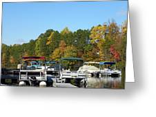 Marina In Fall Greeting Card
