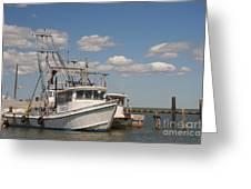 Marina Rockport Texas Greeting Card
