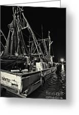 Marina Shipyard Texas Gulf Coast Greeting Card