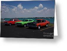 Marine City Car Show Greeting Card