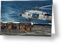 Marines Attach Cargo To An Mh-60s Sea Greeting Card