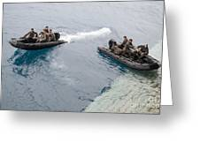 Marines Depart The Well Deck Greeting Card