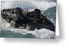 Marines Drive An Amphibious Assault Greeting Card