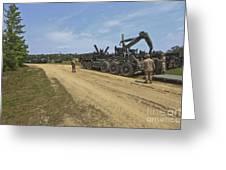 Marines Offload A Logistics Vehicle Greeting Card