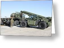 Marines Pick Up Palletized Logistics Greeting Card