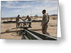 Marines Place An Rq-7 Shadow Unmanned Greeting Card