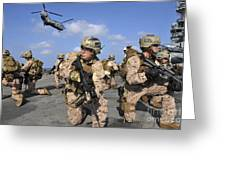 Marines Position Themselves Greeting Card