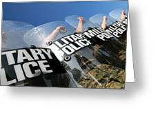 Marines Practice Riot Control Greeting Card