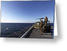 Marines Provide Defense Security Greeting Card