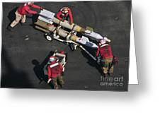 Marines Push Pordnance Into Place Greeting Card