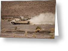 Marines Roll Through The Combat Center Greeting Card