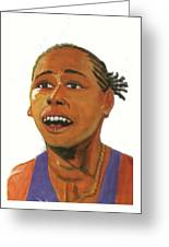 Marion Jones Greeting Card