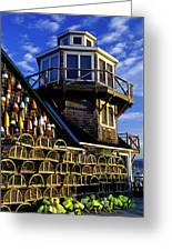 Maritime Lookout Acadia Maine Greeting Card