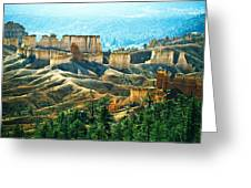 Markagunt Plateau In Zion National Greeting Card