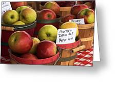 Market Apples Greeting Card
