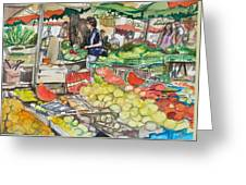 Market At Aix En Provence Greeting Card