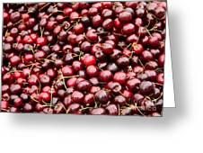 Market Cherries Greeting Card